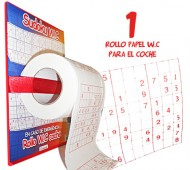 BOTE PAPEL WC SUDOKU / INEDIT