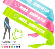 BANDA HONORIFICA MISS. SIMPATIA (LIKE) (Banda 100) INEDIT