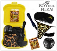 KIT ERÓTICO AMARILLO LEOPARDO FIERA / INEDIT LEOPARDO