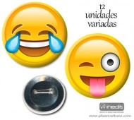 12 CHAPAS TEAM EMOTICONOS (BOLSA)