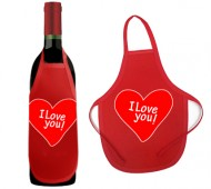DELANTAL BOTELLA I LOVE YOU / INEDIT