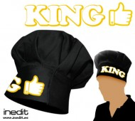 1 GORRO NEGRO KING (REY- REINA) / LIKE INEDIT