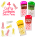 4 CAJITAS DULCES WILLIES*SABORES / INEDIT MINI CARAMELOS PENE