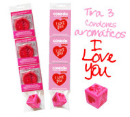 1 TIRA I LOVE YOU 3 CONDONES y DADO ERÓTICO / INEDIT I LOVE YOU