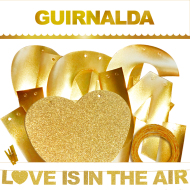 1 GUIRNALDA LOVE IS IN THE AIR (Cartulina Dorada 220gr) INEDIT FESTA LOVE LOVE LOVE